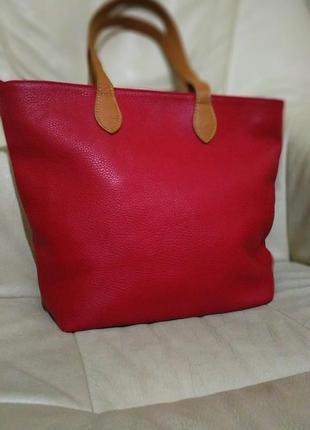 Фирменная сумка vera pelle. италия. кожа