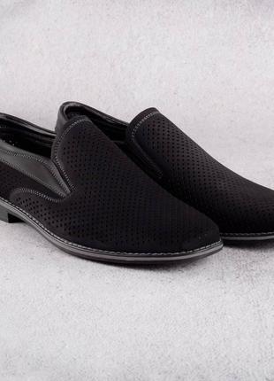 Комфортные мужские туфли баталы с резинкой на подъеме