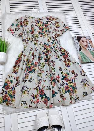 Платье в цветочный принт topshop