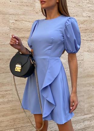 Очень нежное платье с открытой спинкой 417