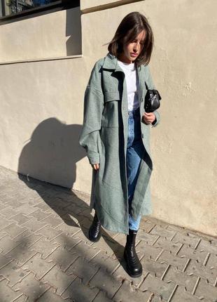 Пальто рубашечного стиля