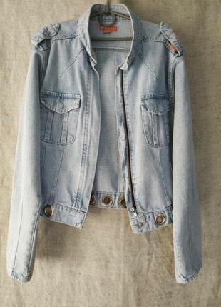 Джинсовая куртка, джинсовка коттоновая miss  e.x.x.i. бомбер.