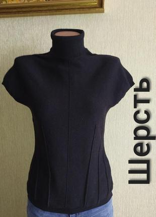 Винтажный шерстяной топ, пуловер, италия, р.36