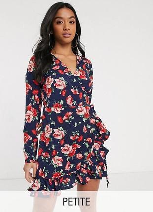 Новое летнее платье с бирками брендовое легкое с запахом boohoo