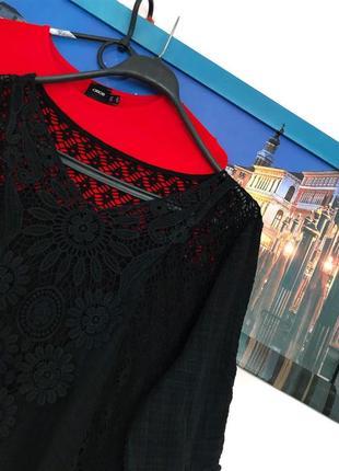 Натуральная легкая блуза с кружевом3 фото