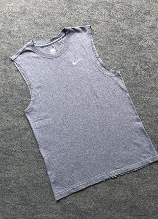 Базова котонова майка nike classic vest cotton shirt grey