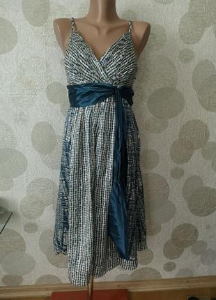 Крутое шелковое платье сарафан
