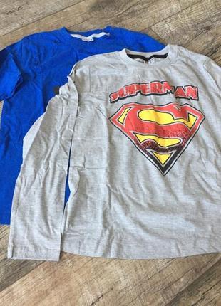 Набор хлопковых регланов на мальчика superman германия  цена за набор 2шт 180грн