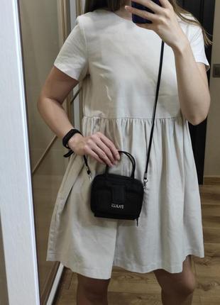Свободное натуральнле льняное мини платье baby dol можно для беременных лён льон винтаж бейбидолл