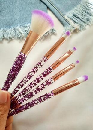 Набор кистей для макияжа ruby face glitter (5 предметов)