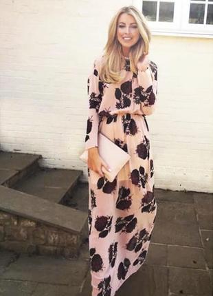 Лёгкое , шифоновое платье макси zara