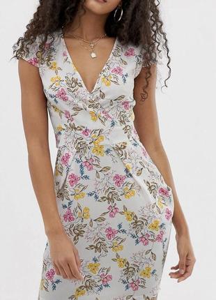 Платье летнее миди, на запах с карманами qed london 32-34