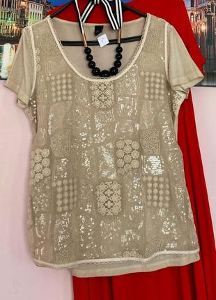Нарядная блуза с декором
