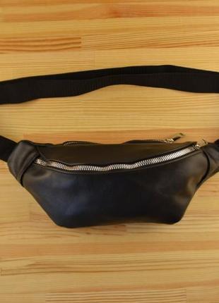 Натуральная кожа / кожаная бананка / сумка через плечо на пояс / барсетка клатч