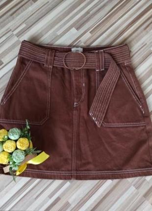 Юбка джинс, джинсовая