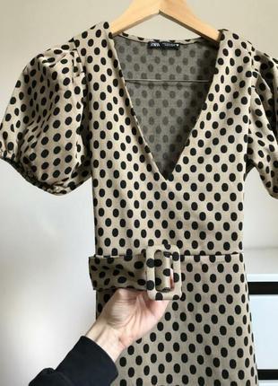 Платье zara с обьемными рукавами