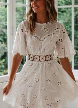 Милейшее белое платье прошва