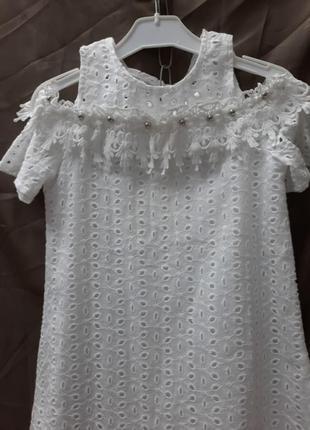 Блуза туніка з натуральної ткані .шикарні для принцеси