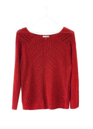 Стильный летний джемпер свитер винного цвета с атласной нитью monsoon