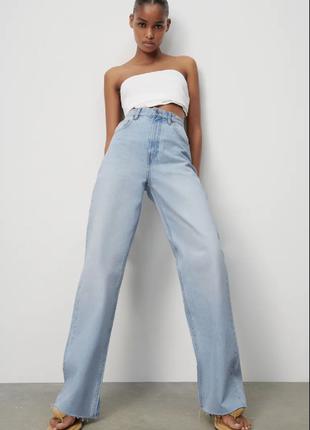 Новые wide leg full length джинсы от бренда zara