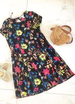 Платье летнее в цветочный принт, h&m