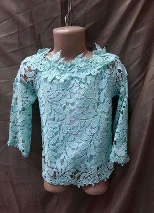 Блуза гепюрова .шикарна .