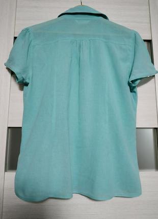 Легкая блуза из тонкого хлопка marks & spencer4 фото