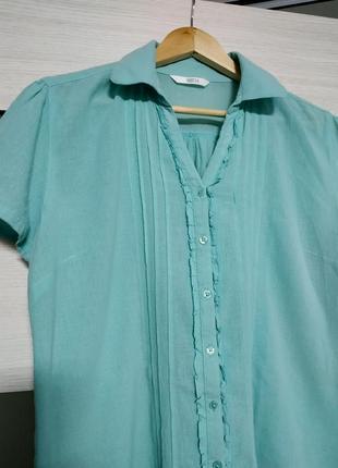 Легкая блуза из тонкого хлопка marks & spencer2 фото