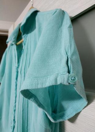 Легкая блуза из тонкого хлопка marks & spencer3 фото