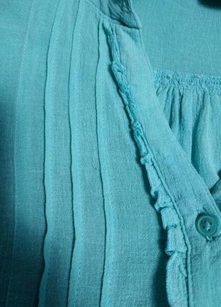 Легкая блуза из тонкого хлопка marks & spencer7 фото