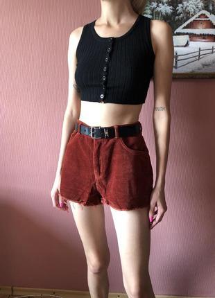 Вельветовые стильные шорты
