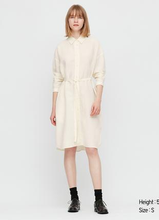 Платье рубашка uniqlo