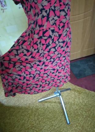 Вискозное легкое фирменное платье jeffrey and paula р.18 (индия)3 фото