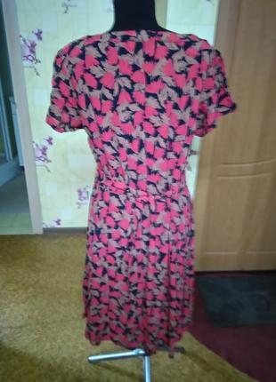 Вискозное легкое фирменное платье jeffrey and paula р.18 (индия)4 фото