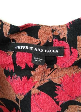 Вискозное легкое фирменное платье jeffrey and paula р.18 (индия)8 фото