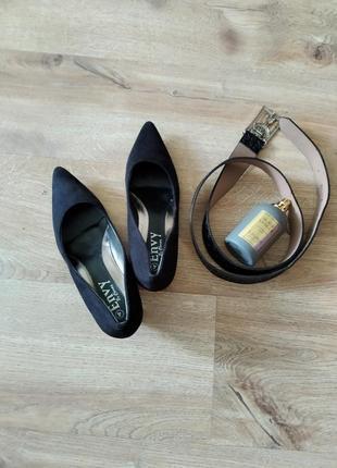 Туфли лодочки замш