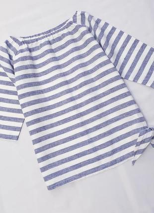 Pias design финляндия льняная блузка блузка в полоску xs натуральный лен