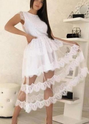 Платье женское белое нарядное