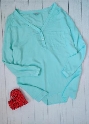 Мятная блуза, блузка, рубашка bexleys, италия.