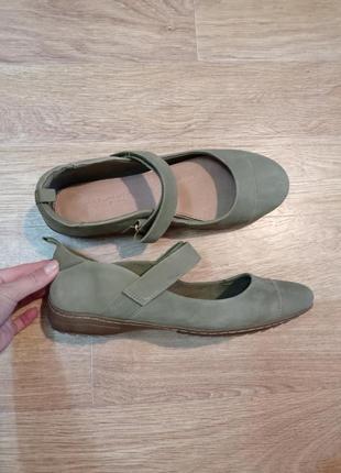 Новые туфли мокасины кожа