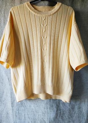 Трикотажный топ, пуловер с короткими рукавами