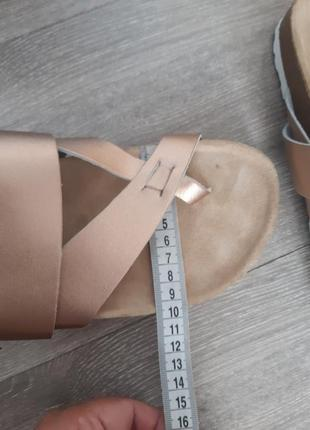 Шлёпанцы босоножки биркенштоки кожа размер 388 фото