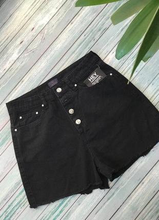 Шорты джинсовые женские с высокой талией легкие на девушку nly топ бренд