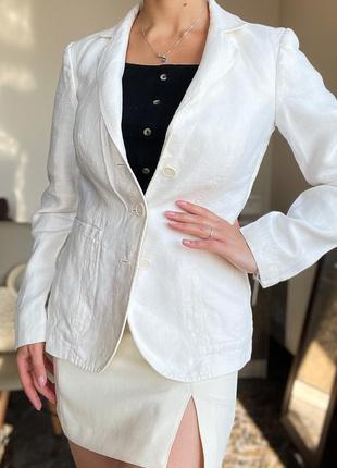 Льняной пиджак, білий піджак etro оригинал