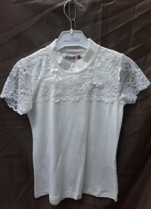 Блуза на дівчинку.гепюр трикотаж .турция фабрика люкс