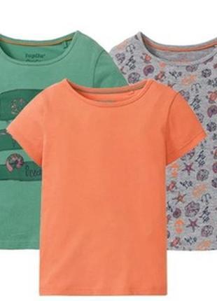 Набор футболок для девочки lupilu р.86-92