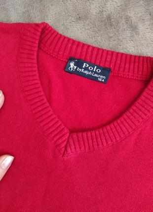 Ш,шыкарный брендовый свитер polo ralph