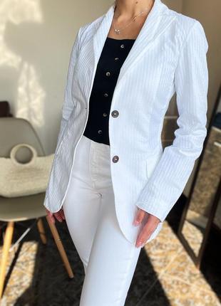 Белый пиджак jil sander оригинал