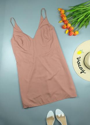 Платье комбинация нежно розовое 24р.