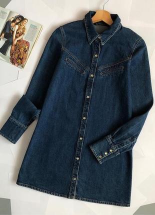 Обалденное джинсовое платье-рубашка мом zara